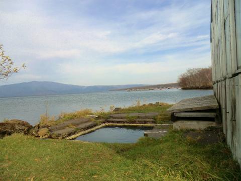 屈斜路湖畔「赤湯」