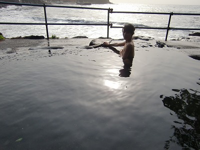 赤沢温泉「赤沢共同露天風呂」静岡 日帰り温泉 露天風呂 混浴 画像