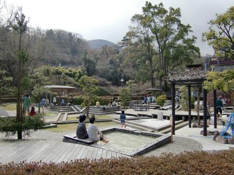 万葉公園足湯施設 「独歩の湯」