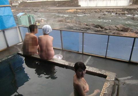 天ヶ瀬温泉 古湯 共同露天風呂 大分 混浴 日帰り入浴 温泉 画像