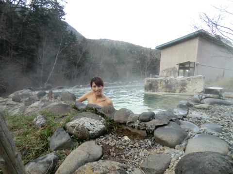 幌加温泉 湯元 鹿の谷 北海道 日帰り入浴 混浴 露天風呂 画像