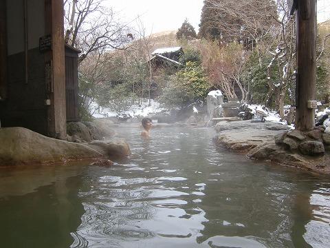 黒川温泉 帆山亭 熊本 混浴 露天風呂 日帰り入浴 温泉 画像