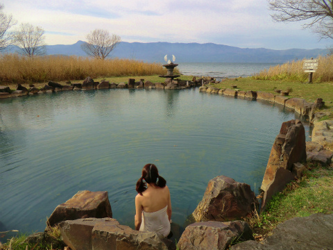 屈斜路湖畔 池の湯 北海道 混浴 露天風呂 無料 画像