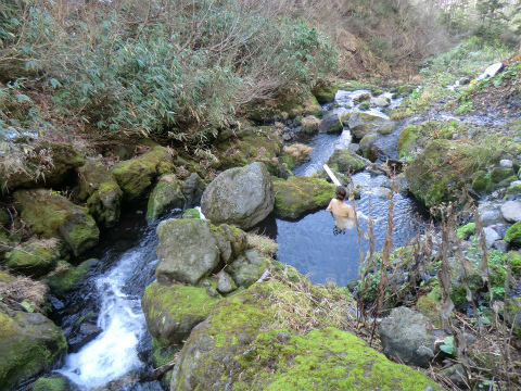 旭岳温泉 岩の湯 北海道 混浴 野天湯 無料 画像