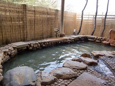 鎌先温泉 木村屋旅館 女性用露天風呂 展望露天風呂 宮城 画像