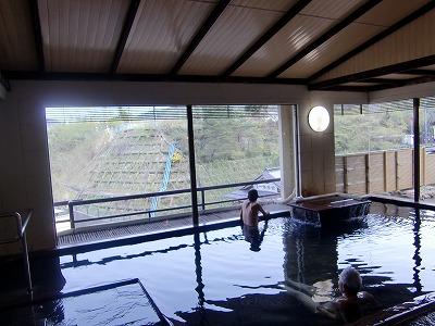 鎌先温泉 木村屋旅館 男性用内湯 展望風呂 宮城 画像