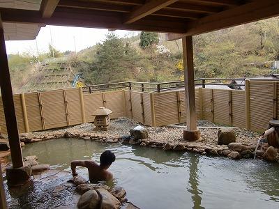 鎌先温泉 木村屋旅館 男性用露天風呂 展望露天風呂 宮城 画像