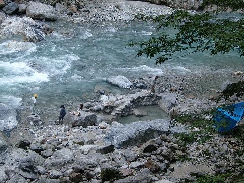 鐘釣温泉「河原露天風呂」