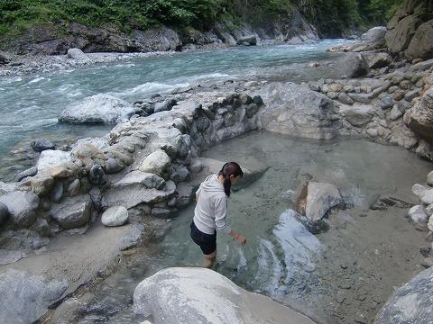 鐘釣温泉 河原露天風呂 富山 無料 混浴 日帰り温泉 画像