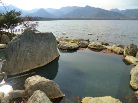 屈斜路湖畔 コタンの湯 北海道 混浴 露天風呂 無料 画像