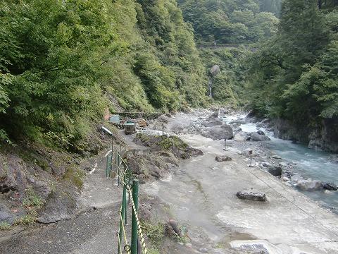 黒薙温泉 野天湯「川の湯」 富山 無料 混浴 日帰り温泉 画像