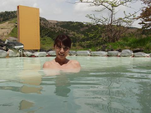 万座温泉 万座プリンスホテル 女性用露天風呂 群馬 画像