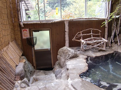 松川渓谷温泉 滝の湯 混浴 長野 日帰り温泉 画像