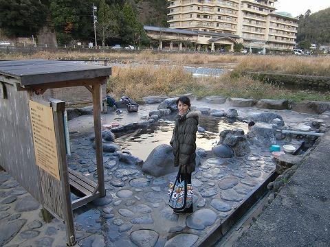 三朝温泉 河原風呂 鳥取 無料 混浴 露天風呂 日帰り温泉 画像