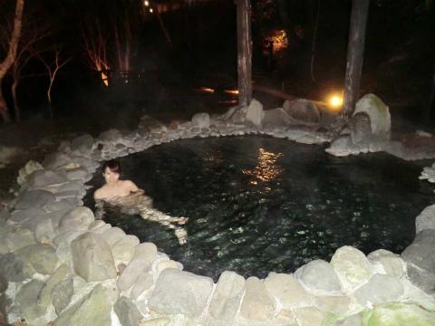 糠平温泉 糠平館観光ホテル 北海道 日帰り入浴 混浴 露天風呂 画像