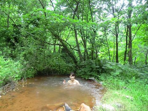 青森 八九郎温泉「奥八九郎温泉」 混浴 露天風呂 温泉 画像
