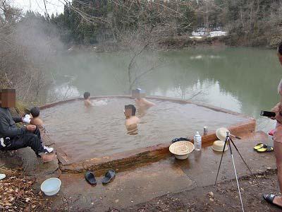 大塩温泉 露天風呂 期間限定 混浴 日帰り 温泉 福島 共同浴場 画像