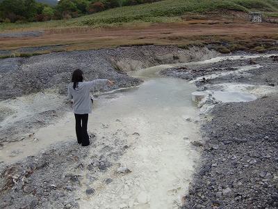 恐山温泉 小地獄釜の湯 青森 温泉 混浴 野天風呂