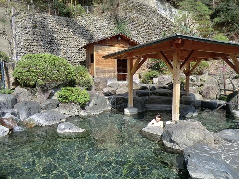 湯野上温泉 旅館新湯 混浴露天風呂 日帰り温泉 福島 画像