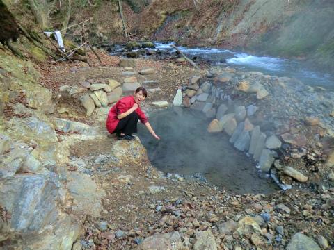 然別峡温泉 チニカ (ペニチカ) の湯 北海道 混浴 露天風呂 無料 画像