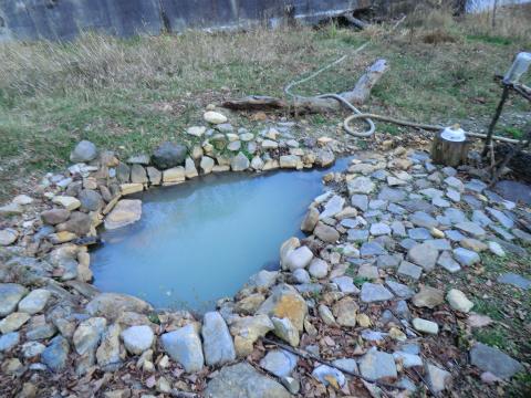 然別峡温泉 ダム下の湯 北海道 混浴 露天風呂 無料 画像