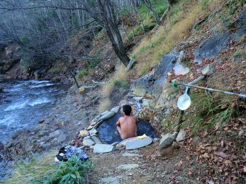 然別峡温泉 メノコの湯 北海道 混浴 露天風呂 無料 画像