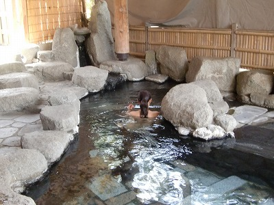白布温泉 ホテル渓山  山形 混浴露天風呂 画像