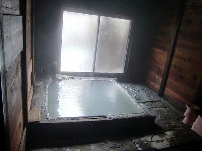白骨温泉 かつらの湯 丸永旅館 長野 混浴 露天風呂 天然記念物