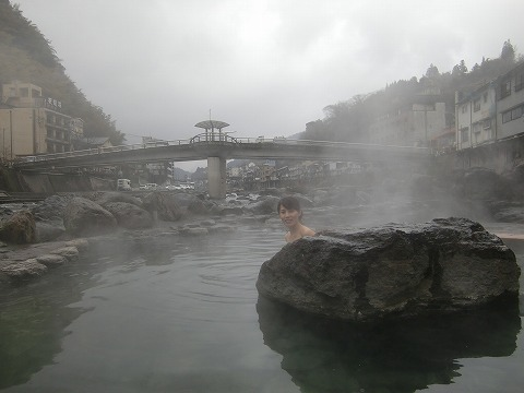 天ヶ瀬温泉 シャレー水光園 混浴露天風呂 日帰り入浴 大分 画像