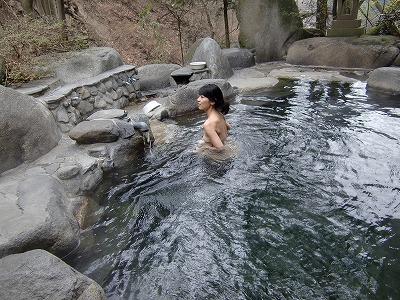裂石温泉 雲峰荘 混浴 日帰り 温泉 山梨 露天風呂 画像