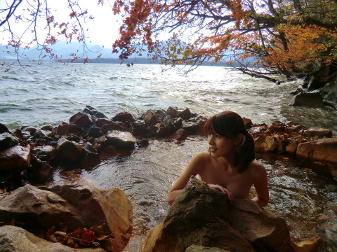 屈斜路湖畔 奥の湯 北海道 混浴 露天風呂 無料 画像