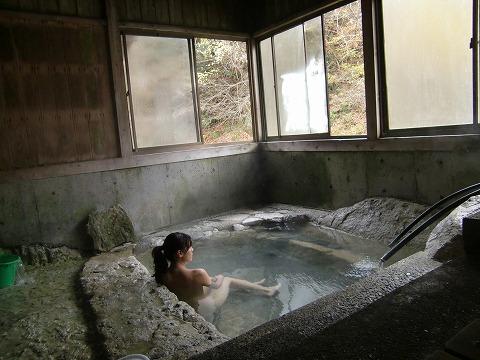 湯西川温泉 共同浴場 薬師の湯 栃木 混浴 露天風呂 日帰り温泉
