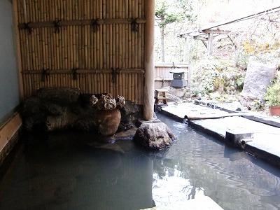 柳津温泉 内田屋 混浴 日帰り 温泉 福島 露天風呂 画像
