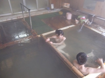 横向温泉 中の湯旅館 混浴 日帰り 温泉 福島 湯治 画像
