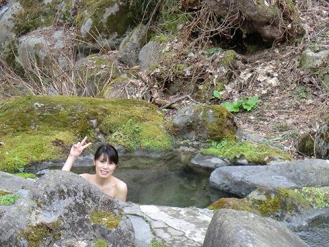 二岐温泉 湯小屋 混浴露天風呂 日帰り温泉 福島 画像