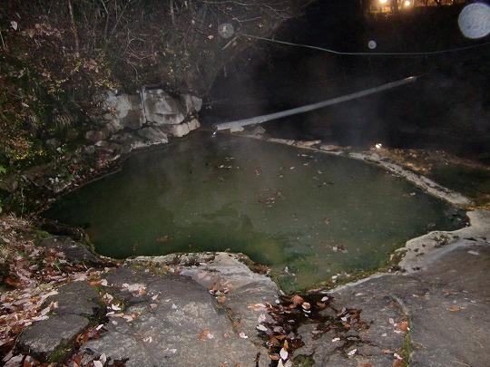 塩沢温泉 湯元山荘の露天風呂