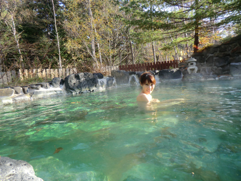 川湯温泉 温泉浪漫の宿 湯の閣  北海道 日帰り入浴 混浴 露天風呂 画像