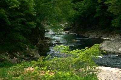 湯野上温泉「河原露天風呂」
