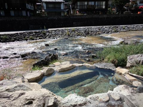 湯西川温泉 金井旅館の露天風呂画像