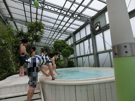 熱川温泉「ホテルカターラリゾート&スパ」のジャングルスパ ジャグジー風呂