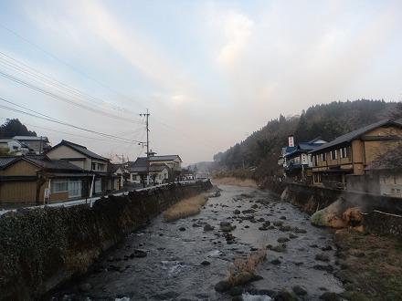 長湯温泉 ガニ湯は昔ながらの日本の風景が広がっています