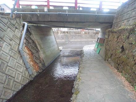 長湯温泉 ガニ湯へのアクセスは川の目の前へ