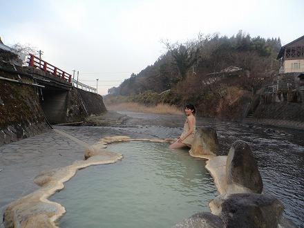 長湯温泉 ガニ湯からの眺めは風情があります