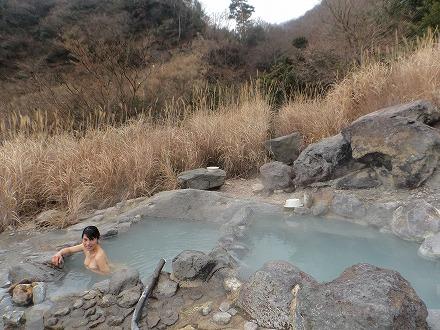 鍋山の湯のお湯はとっても新鮮です