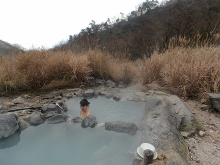 鍋山の湯は静かでした
