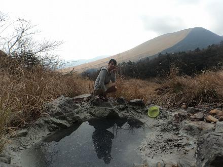 明礬温泉の野湯 泥湯からの眺めはバツグンです
