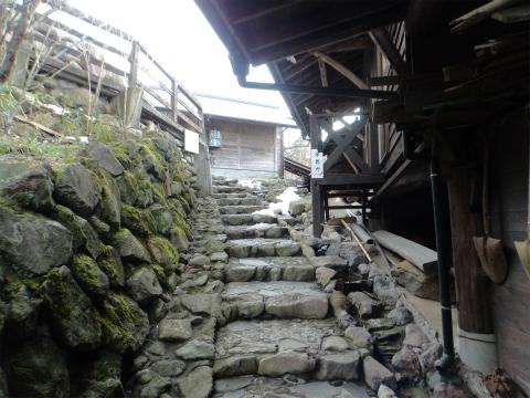 はげの湯温泉 山翠 混浴露天風呂への道のりの画像