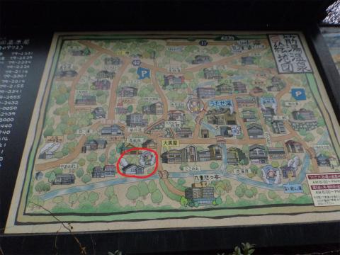 筋湯温泉のマップ 画像