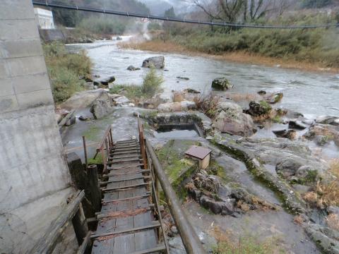 出雲湯村温泉 露天風呂 野湯へのアクセス 画像
