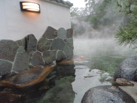 玉造温泉 長楽園 混浴露天風呂 画像